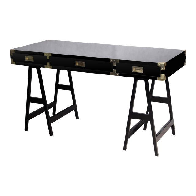 Selamat Designs Chiba Black Lacquer Study Desk - Image 1 of 8