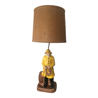 Mid-Century Modern Nautical Fisherman Table Lamp For Sale