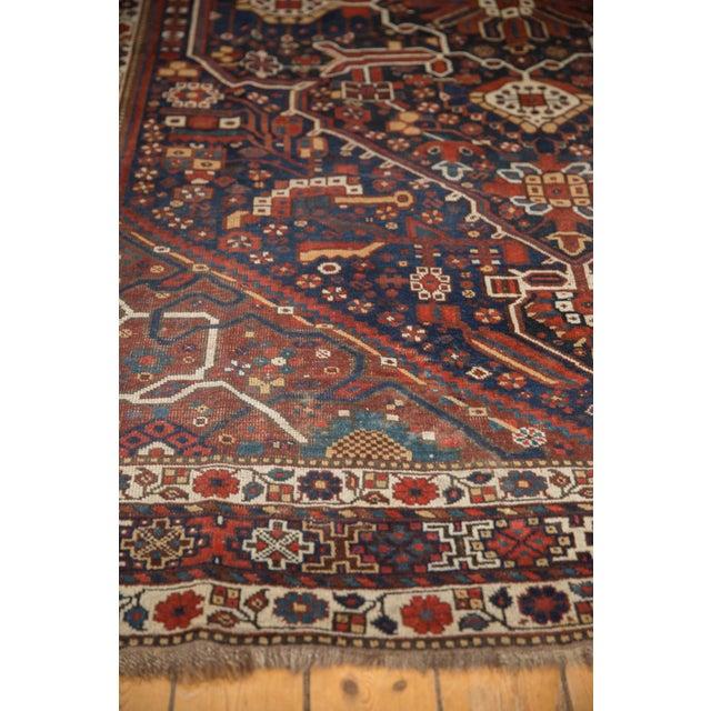 "Vintage Shiraz Carpet - 7'3"" X 10'2"" For Sale - Image 9 of 13"