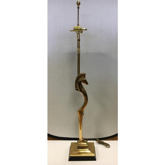 Mid Century Modern Chapman Brass Seahorse Floor Lamp For Sale - Image 10 of 10