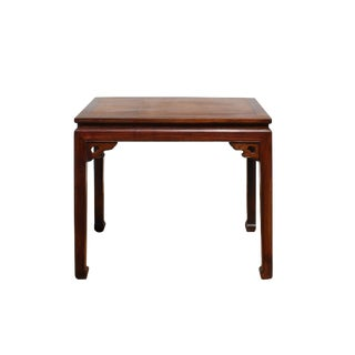 Chinese Huali Rosewood Scroll Motif Apron Side Altar Table