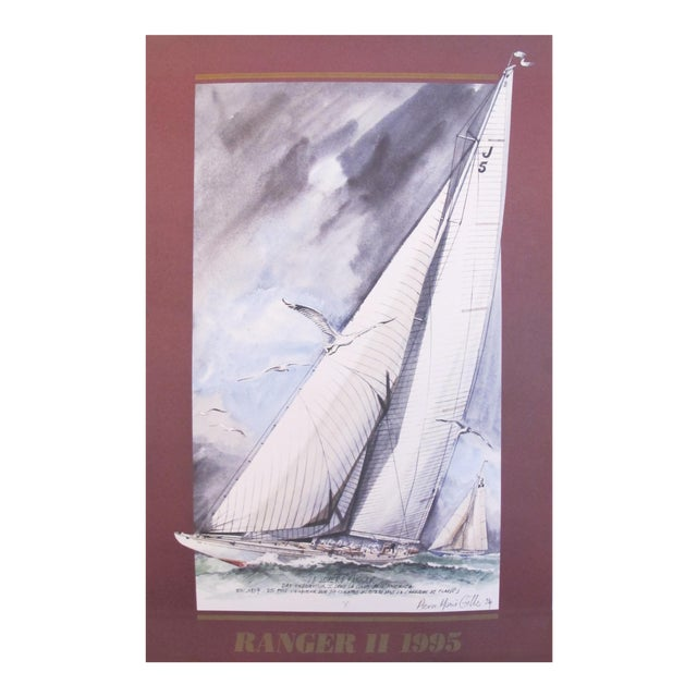 1995 America's Cup Sailing Poster, Ranger II Yacht For Sale