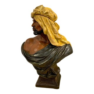 Goldscheider Orientalist Bust of an Arab For Sale