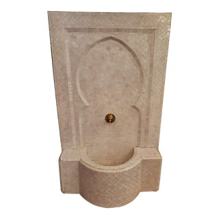 Moroccan Zen Style White Fountain For Sale