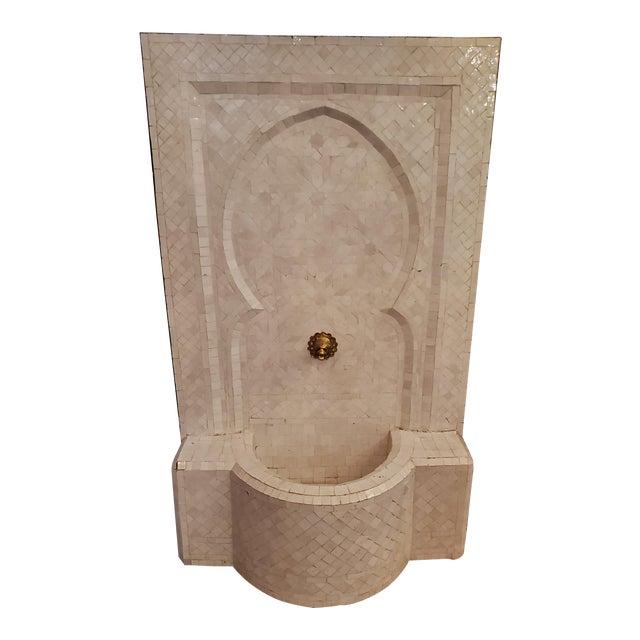 Moroccan Zen Style White Fountain For Sale