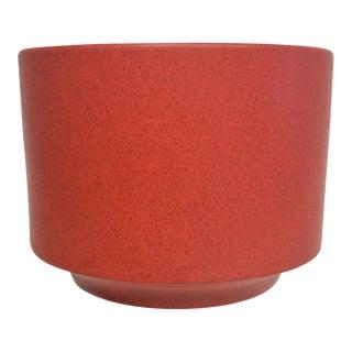 Mid-Century Modern Red Gainey Ceramics Planter For Sale