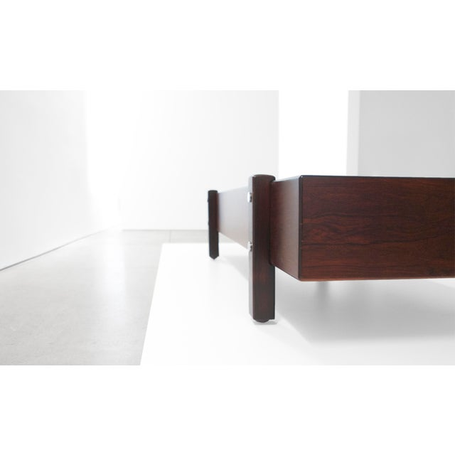 Sergio Rodrigues Sergio Rodrigues for Aros, Eleh Rosewood Bench C. 1965 For Sale - Image 4 of 5