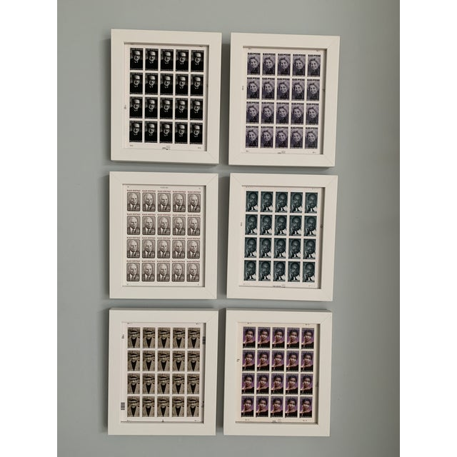 Gray Late 20th Century Black Heritage Month Framed Stamp Collection - 6 Pieces For Sale - Image 8 of 8