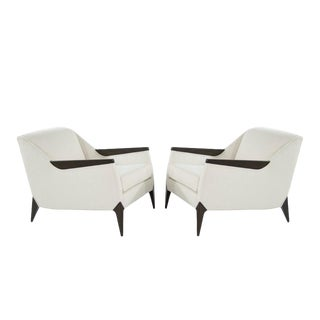 Sculptural Italian Reading Lounges, 1950s - Set of 2 For Sale