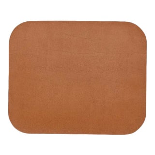 Leather Double Sided Mouse Pad in Navy & Tan For Sale