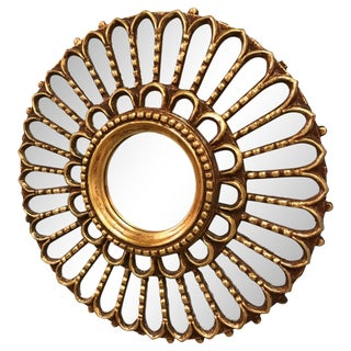 Antique Anglo-Indian Sunburst Mirror For Sale