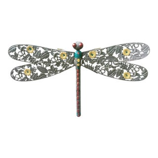 1980s Vintage Iron Garden Dragonfly For Sale
