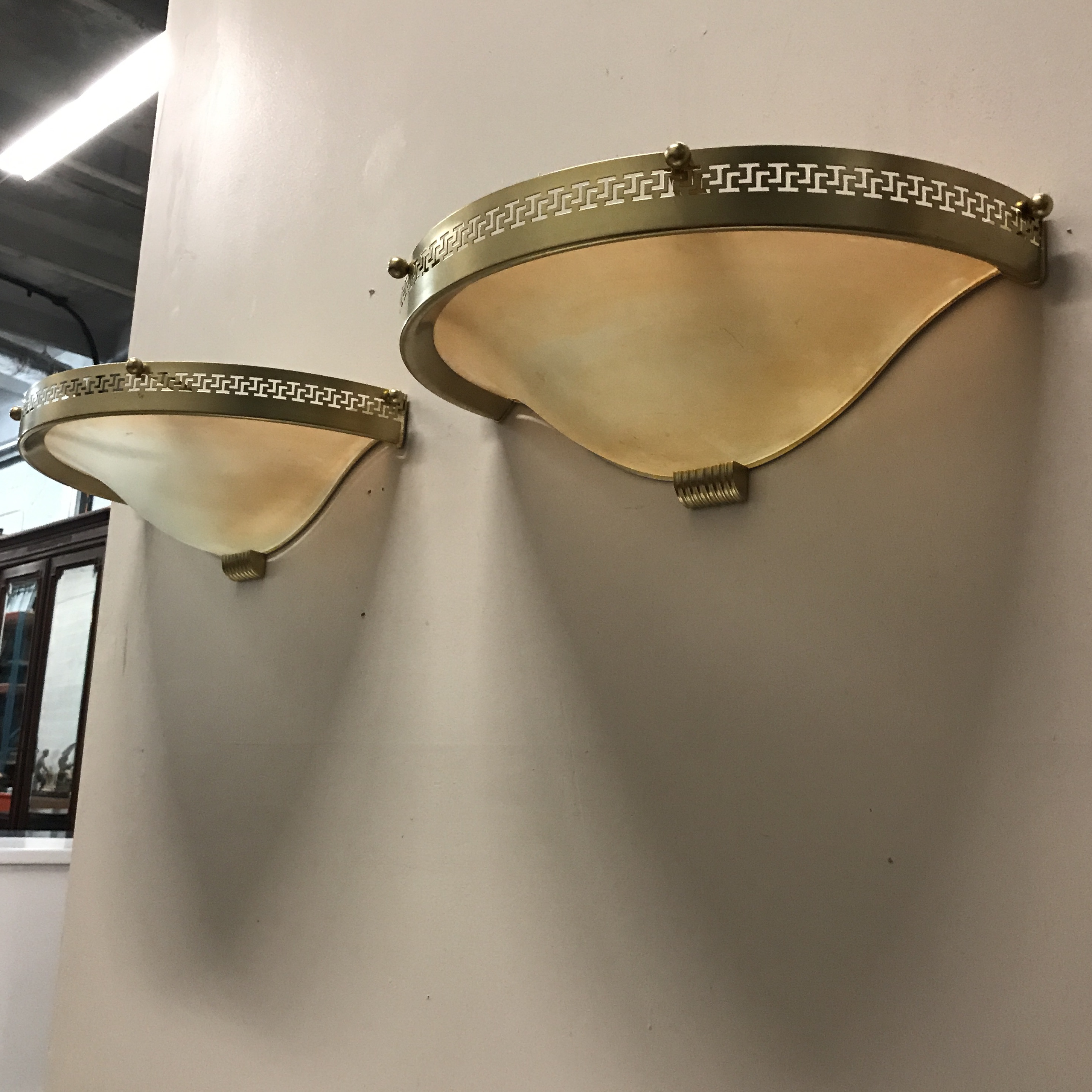Monumental Pair Of French Art Deco Wall Sconces Circa 1940s.   Image 9 Of 10