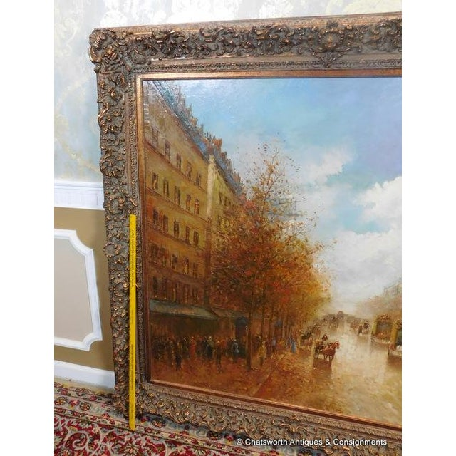 Paris Street Scene Impressionist Oil Painting For Sale - Image 10 of 11