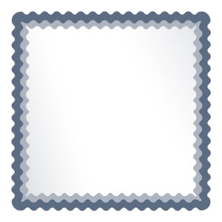 Fleur Home x Chairish Carnival Chaos Square Mirror in Distance, 30x30 For Sale