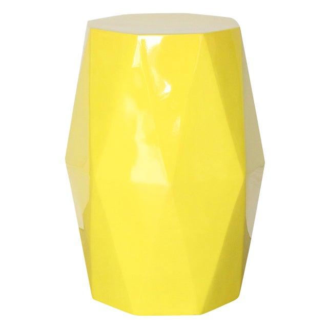 Selamat Designs Gemma Yellow Lacquer Spot Table For Sale