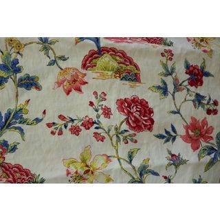 Schumacher Colonial Williamsburg Linen Fabric Pondicherry Yards- 4 1/6 For Sale
