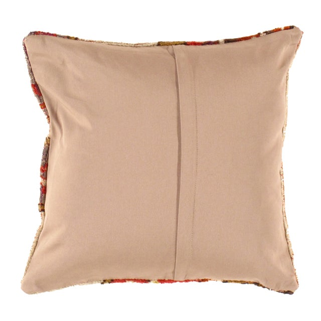 Antique hand woven Oushak pillow. This is 100% wool. Back 100% cotton. Beautiful colors and well made. This pillow...