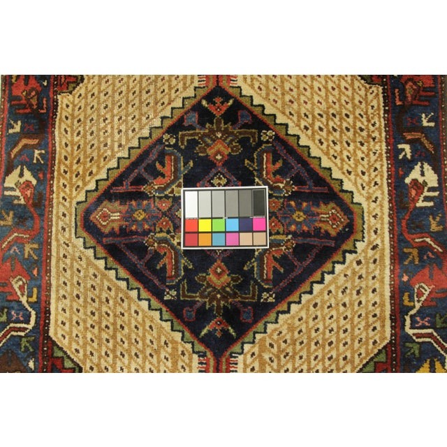 Textile 1920s Vintage Persian Malayer Design Rug - 3′5″ × 12′ For Sale - Image 7 of 10