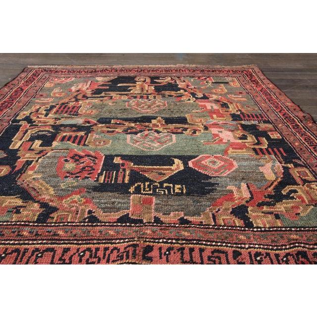 "Apadana - Antique Persian Bidjar Rug, 4' x 4'3"" For Sale - Image 4 of 4"
