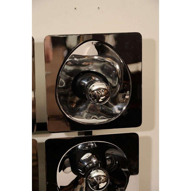 Early 20th Century Modernist Four-Way Chrome Sconce & Wall Sculpture by Sciolari For Sale - Image 5 of 10