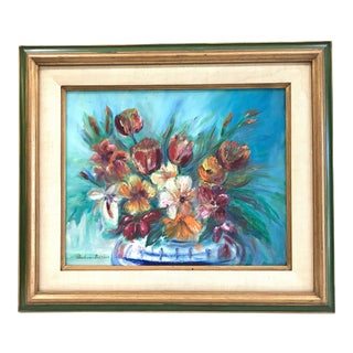 1960s Still Life With Blue Background