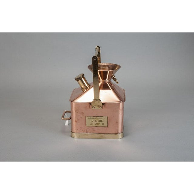 Late 19th Century Medium 19th Century English Copper and Brass Fuel Measure For Sale - Image 5 of 5