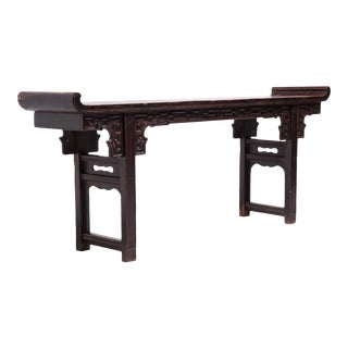 19th Century Chinese Altar Table With Everted Ends For Sale