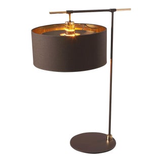 Balance Brown/Polished Brass Table Lamp For Sale