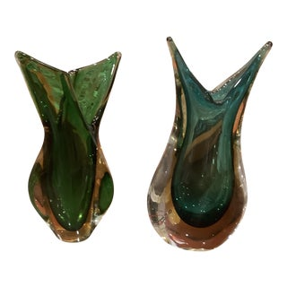 Flavio Poli for Seguso Murano Vase-a Pair For Sale