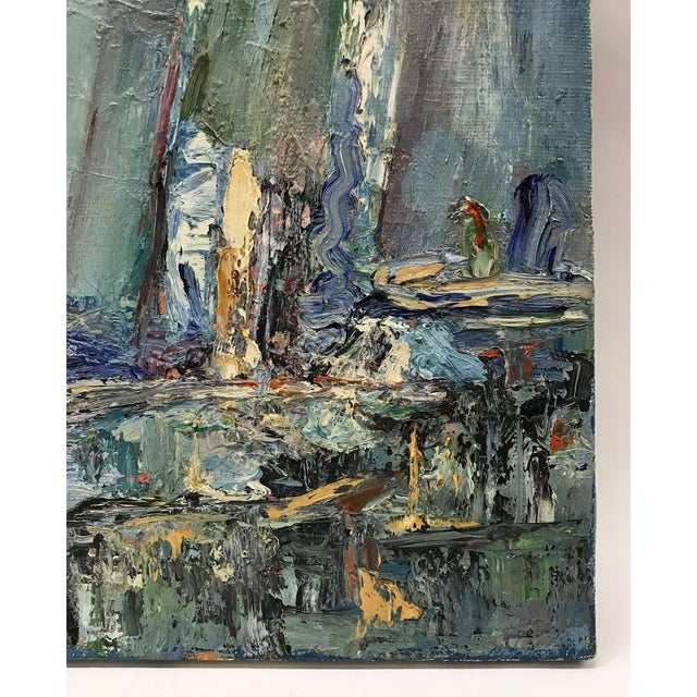 Mid-Century Modern Mid-Century Modern Abstracted Seascape For Sale - Image 3 of 10