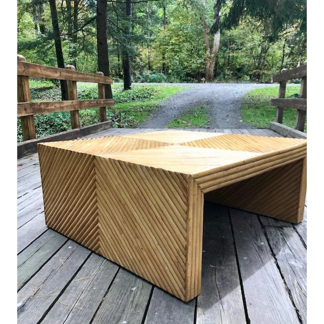 1960s Vintage Split Bamboo Waterfall Coffee Table For Sale - Image 5 of 11