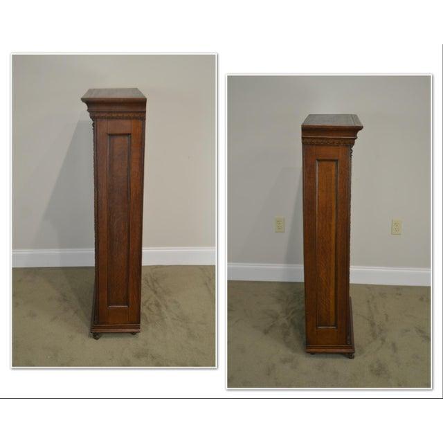 *STORE ITEM #: 19066 Antique Miniature Victorian Oak 2 Door Bookcase Cabinet AGE / ORIGIN: Approx. 120 years, America...
