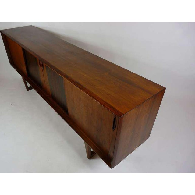 Brown Exceptional Danish Rosewood Credenza For Sale - Image 8 of 10