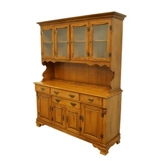 """Tell City Solid Hard Rock Maple Colonial Style 60"""" Buffet W. China Cabinet Hutch 8379 - 48 Andover Finish Preview"""