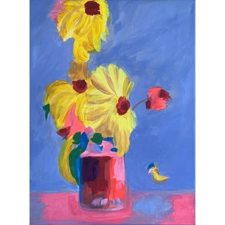 The Last of the Summer Flowers Painting For Sale