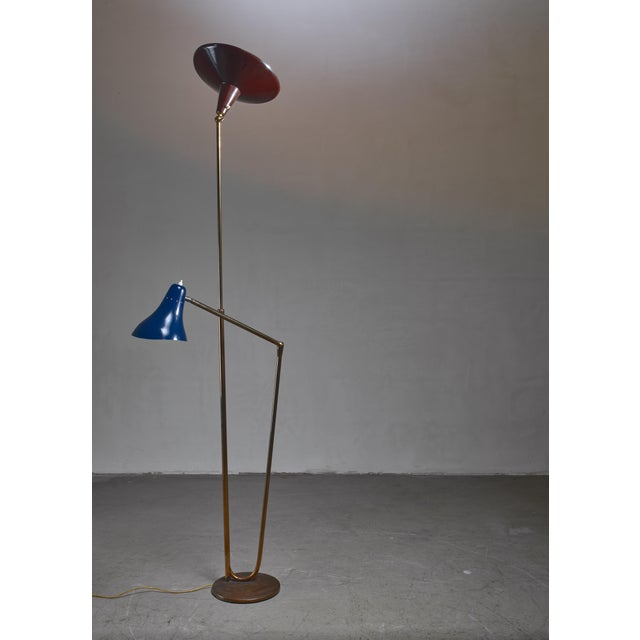 Metal Guiseppe Ostuni Floor Lamp With 2 Shades for O-Luce, Italy For Sale - Image 7 of 7