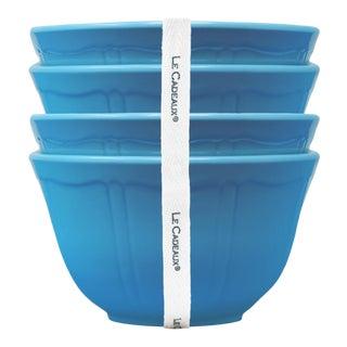 Terra Blue Melamine Dessert Bowls, Set of 4 For Sale