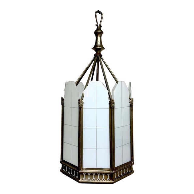 Art Deco Octagon Lantern From the El Cid Theatre, Los Angles For Sale
