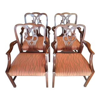 "Baker ""Chippendale Ribbon Back"" #789 Armchairs - Set of 4 For Sale"