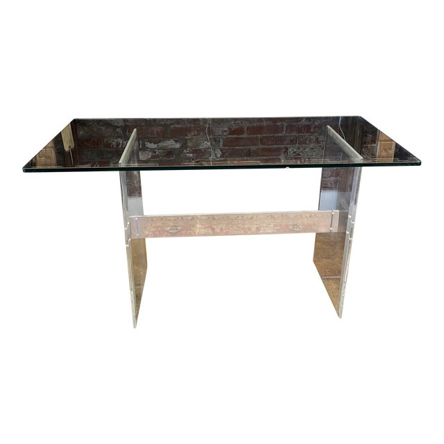 90's Lucite Console For Sale