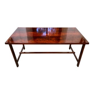 Custom Antique Flame Mahogany Dessert/Game Table For Sale