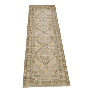 """1960's Vintage Turkish Hand-Knotted Hallway Runner-2'9"""" X 9'1"""" For Sale"""