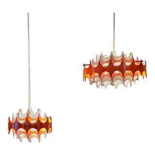 """Doria Leuchten Pendants (10"""" & 14"""") - a Pair For Sale"""
