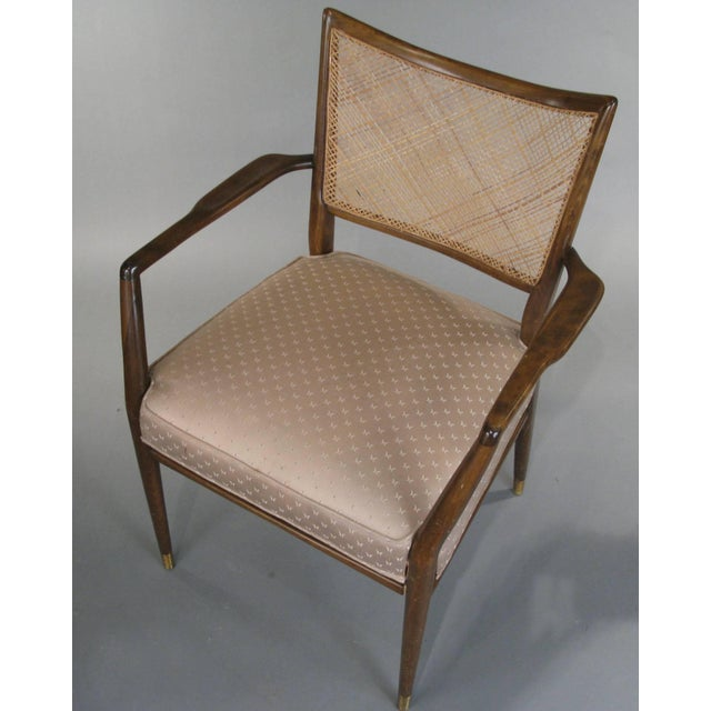 1950s 1950s Stylish Mid Century Walnut and Cane Armchairs - a Pair For Sale - Image 5 of 7