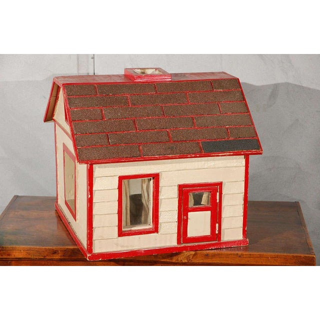 The American School Folk Art House / Flag Stand For Sale - Image 3 of 10