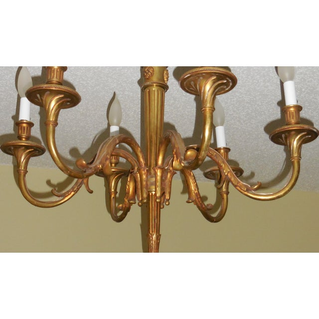 Antique Bronze French Chandelier - Image 11 of 11