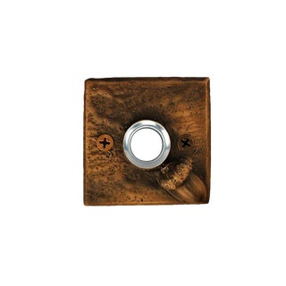 Square Acorn Doorbell with Traditional Patina For Sale