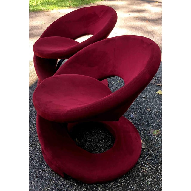 Contemporary 1980s Vintage Jaymar Spiral Chairs- a Pair For Sale - Image 3 of 10