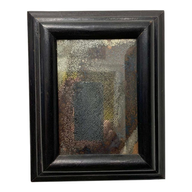 18th C. Patinated Wall Mirror For Sale